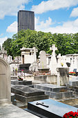 Graveyard in city center, Paris, France - Stock Image - D7YAYP