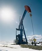 Pump Jack, Alberta, Canada - Stock Image - BG5A2A