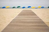 Boardwalk, Nantucket, Massachusetts, USA - Stock Image - C1J313