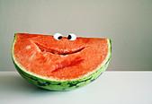 smiling,fruit,watermelon - Stock Image - CYCJX1