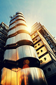 sunny architecture lloyds building - Stock Image - D9C6JB