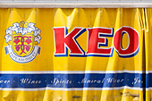 """Keo"" curtain side beer delivery truck. - Stock Image - E15MNG"