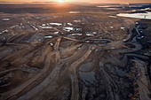 Aerial of Suncor Millenium Mine,  north of  Fort  McMurray, Canada. - Stock Image - BPRF7X