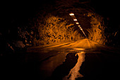 Wawona Tunnel at Springtime Dawn Yosemite National Park - Stock Image - BD149B