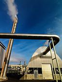 Geothermic power station Iceland. - Stock Image - B8YG1X