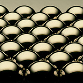 Metallic balls - Stock Image - AT3BBH