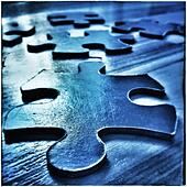 Jigsaw puzzle pieces - Stock Image - S02A6P