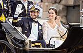 The wedding of HRH Prince Carl Philip and Miss Sofia Hellqvist, Stockholm, Sweden - Stock Image - ETKFEG