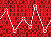 Graph in binary pattern - Stock Image - C8XB13