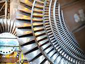 Turbines in power station - Stock Image - C57A01