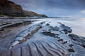 Stormy evening at Kilve on the Somerset Coast, England. Summer (June) 2011. - Stock Image - CE54A2