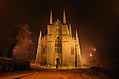 Down Cathedral, Captured at night, Downpatrick. Ireland - Stock Image - BNBDF2