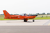 Privately owned SIAI-Marchetti SF-260AM on the runway at RAF Waddington Airshow 2013 - Stock Image - DAB6FA