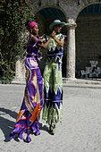 Street Entertainers Plaza de la Catedral, Havana, Cuba - Stock Image - A12AY6