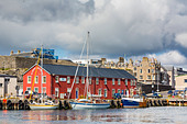 Views of the port city of Lerwick, Shetland Islands, Scotland, United Kingdom, Europe - Stock Image - D6PJ7T