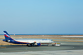 Russian Aeroflot Airbus A321, VQ-BED towing out at Larnaca Airport, Cyprus - Stock Image - E46DBB