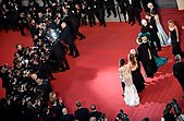epa04759253 Cast members leave the screening of 'Youth' during the 68th annual Cannes Film Festival, in Cannes, France, 20 May 2015. The movie was presented in the Official Competition of the festival which runs from 13 to 24 May.  EPA/FRANCK ROBICHON - Stock Image - ER01D6