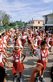 Cuba. Havana. School Children Exercising - Dancing In Street - Stock Image - D2BG1N