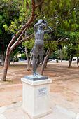 Statue in Larnaca theatre grounds, Larnaca, Cyprus. - Stock Image - E9YYRJ