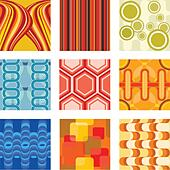 A vector illustration of a set of retro wallpaper - Stock Image - DNMDE6