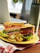 Lunch break - Stock Image - D9WJB5