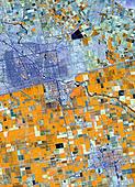 Satellite image of farmland Germany - Stock Image - AXK0HT