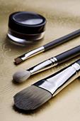 make up brushes - Stock Image - C49PGJ