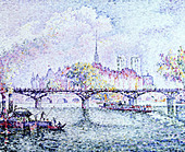 "fine arts, Signac, Paul, (1863 - 1935), painting, ""Paris, Ile de la Cite"", 1912, oil on canvas, Museum Folkwang, Essen, Frenc - Stock Image - BD66Y3"