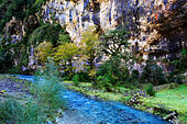 River in Caucasus mountains, Abkhazia, Georgia - Stock Image - EFN86H