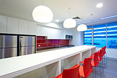Modern commercial kitchen & lunch room - Stock Image - CBA67D