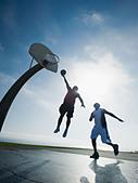 Basketball players - Stock Image - BGYFN5