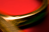 Extreme closeup of scissors. Abstract image taken with a high magnification macro lens. - Stock Image - CR1F87