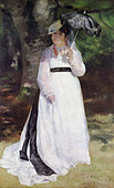 Lise by Pierre - Auguste Renoir, 1867 Painting. French painter, 25 February 1841 - 3 December 1919.  Courtesy: Folkwang Museum, - Stock Image - B0DT27