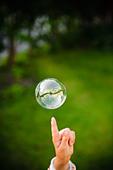 A soapbubble, Sweden. - Stock Image - BMEAEP