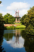 Windmill Am Wall. The last surviving windmill of 8 in Bremen Germany - Stock Image - E6RB59