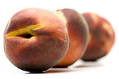 Three peaches - Stock Image - BJK8C3
