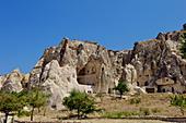 Goreme open air museum, Cappadocia, Anatolia, Turkey, Asia Minor, Eurasia - Stock Image - D6P59Y