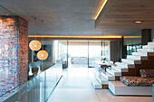 Open modern living space - Stock Image - E8WPE3