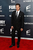 """Washington, DC, USA. 15th Oct, 2014. Actor Brad Pitt attends the world premiere of """"The Fury"""" at the Newseum on October 15, 2014 in Washington DC. © Debby Wong/Alamy Live News - Stock Image - E908TB"""