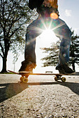 A skateboarder Finland. - Stock Image - BDPA13