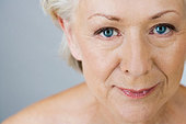 A portrait of an attractive senior woman - Stock Image - B7MH8A