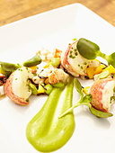 Close up of lobster entree - Stock Image - BXE32Y