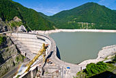 Inguri Dam between Georgia and Abkhazia, Middle East - Stock Image - CRAX4B