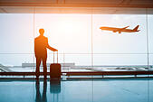 waiting in the airport - Stock Image - EN0B5T