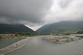 The River Bzyb in Abkhazia - Stock Image - B99XFY