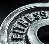Iron text of the word fitness - Stock Image - CNPRXG