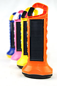 colourful 'BoGo Light ' Solar Paneled torches - Stock Image - BK5JYE