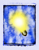 Glowing Lightbulb - Stock Image - AMETMD