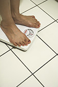 Body Weight Scales - Stock Image - ABWW0F