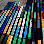 Area with containers - Stock Image - BKWE77
